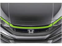 Honda Civic Grille Accent (Green Red  or Blue) - 08F21-TBA-1B0A