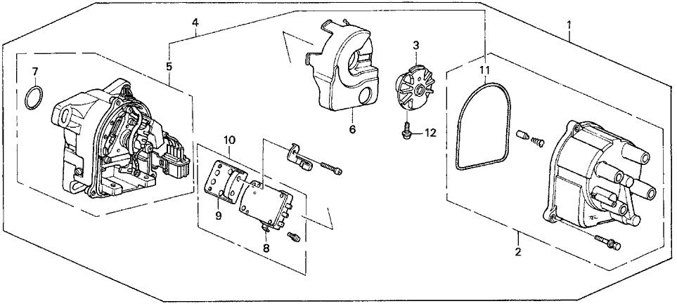 1993 Honda Prelude 2 Door SIVTEC KA 5MT Distributor (TEC)