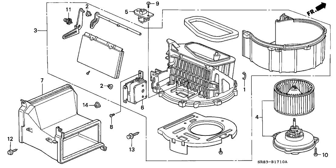 1995 Honda Civic 2 Door Dx Ka 4at Heater Blower