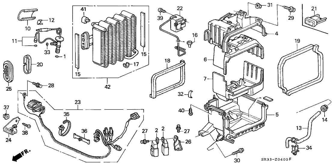 1993 Honda Civic 3 Door Si Ka 5mt A  C Unit