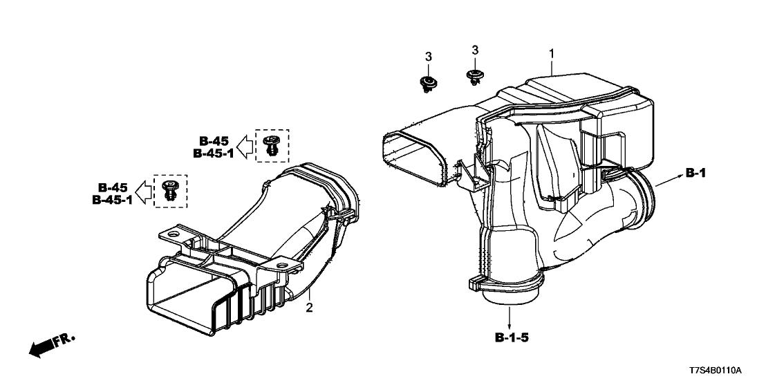 2016 Honda HR-V 5 Door EX (AWD) KA CVT Air Intake Tube