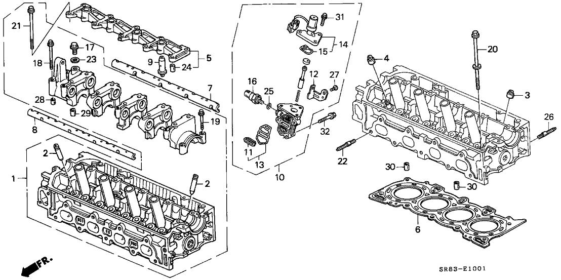 1993 Honda Civic 2 Door Ex Ka 5mt Cylinder Head