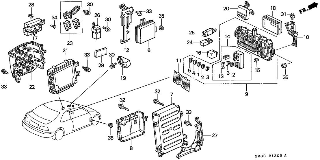 1993 Honda Civic 2 Door Dx Ka 5mt Control Unit  Cabin