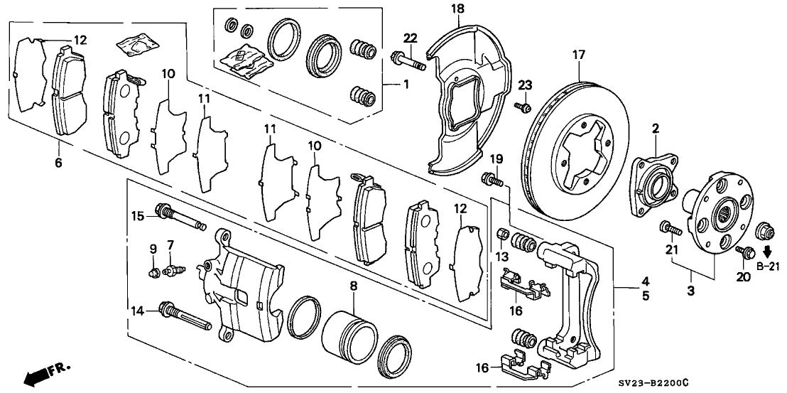 1995 Honda Accord 2 Door LX KL 4AT Front Brake