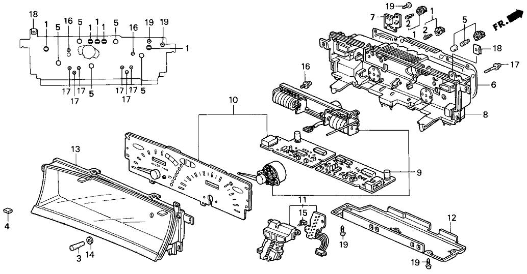 1993 Honda Prelude 2 Door S KA 5MT Meter Components