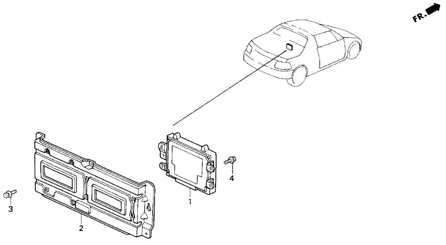 1997 Honda Del Sol 2 Door V-tec Ka 5mt Abs Unit
