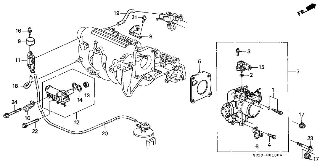 1995 Honda Civic 3 Door Cx Ka 5mt Throttle Body