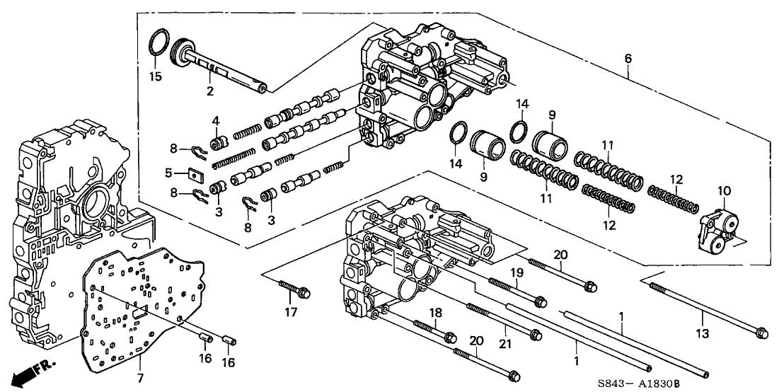1998 Honda Accord 2 Door LX (V6) KA 4AT AT Secondary Body (V6)