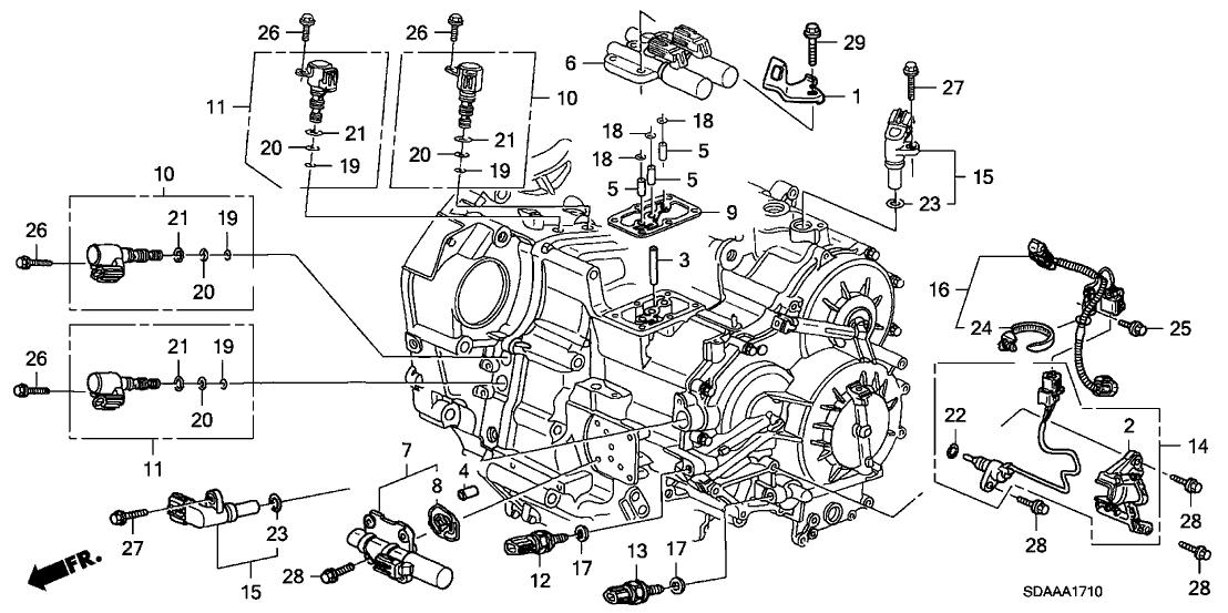 2007 Honda Accord 4 Door Ex  V6  Ka 5at At Sensor