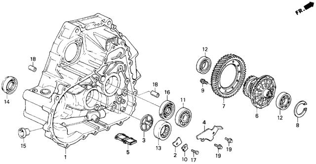 Genuine Honda 91101-PG1-771 Needle Roller Bearing