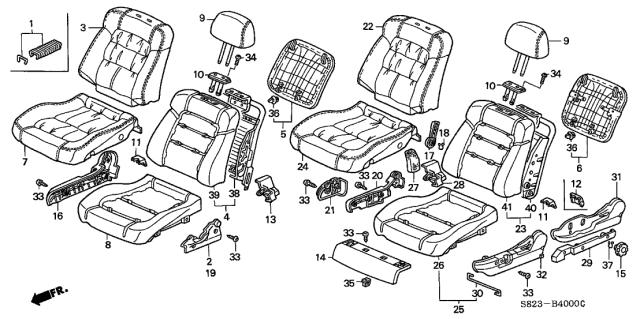 Honda Genuine 81528-SWA-A21ZC Seat Back Cover