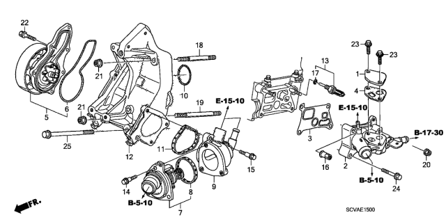 2009 Honda Element Water Pump Diagram