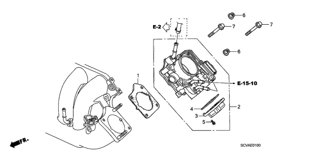 2009 Honda Element Throttle Body Diagram