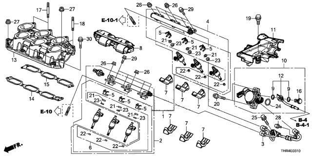 17010-PT3-A01 Intake Manifold Genuine Honda