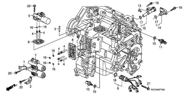 2009 Honda Element AT Solenoid Diagram