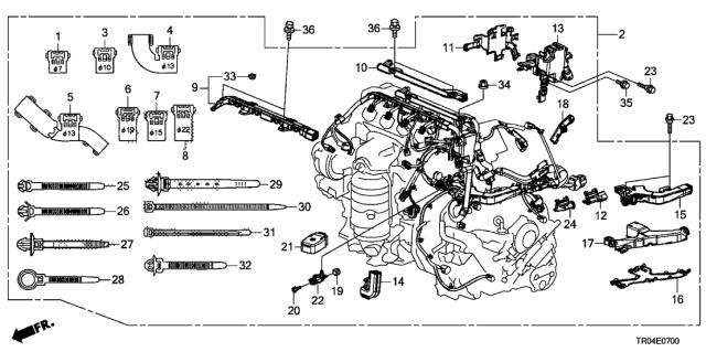 engine wire harness (1.8l) - 2012 honda civic 4 door dx ka 5at  honda parts now