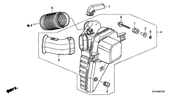 2009 Honda Element Resonator Chamber Diagram