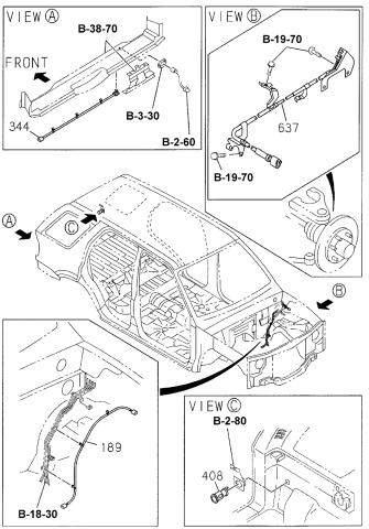 2000 Honda Passport 4 Door 4lx Ka 4at Wiring Harness