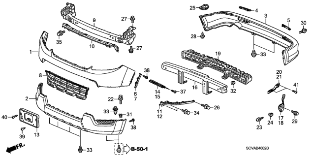2009 Honda Element Bumpers Diagram