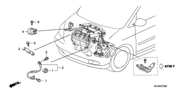 32610-SHJ-A01 - Genuine Honda Cable, Sub-GroundHonda Parts Now