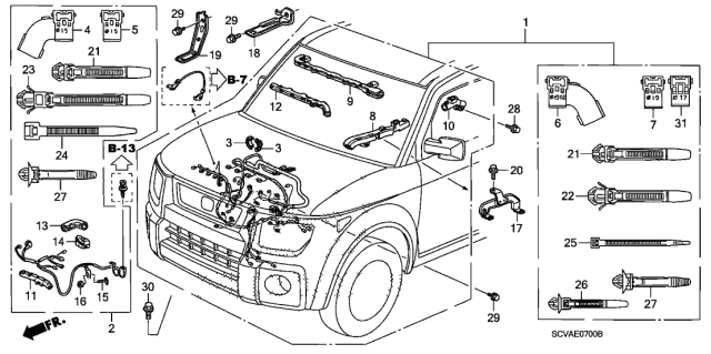 2009 Honda Element Engine Wire Harness Diagram