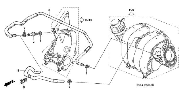 2003 Honda Cr V 5 Door Lx 4wd Ka 5mt Breather Tube