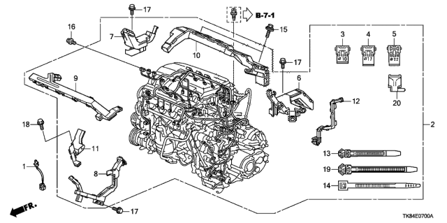 32110-RV0-A20 - Genuine Honda Engine HarnessHonda Parts Now