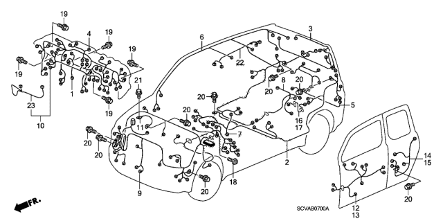 2009 Honda Element Wire Harness Diagram