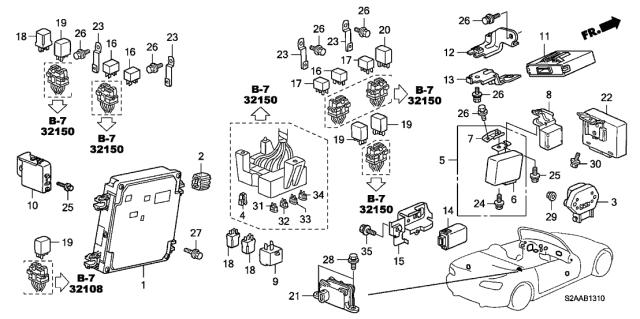 Honda S2000 AP1 Soft Top Toit module 86500 S2A 003 30//10 R