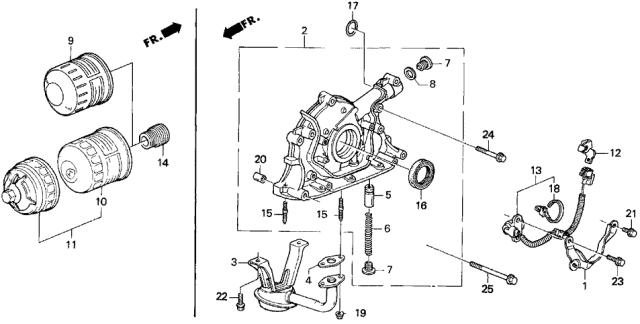 Oil Pump Assembly 15100-P72-A01 Genuine Honda
