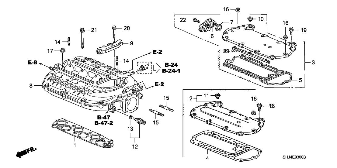 2005 honda odyssey 5 door ex ka 5at intake manifold 2007 Honda Odyssey Relay Diagram