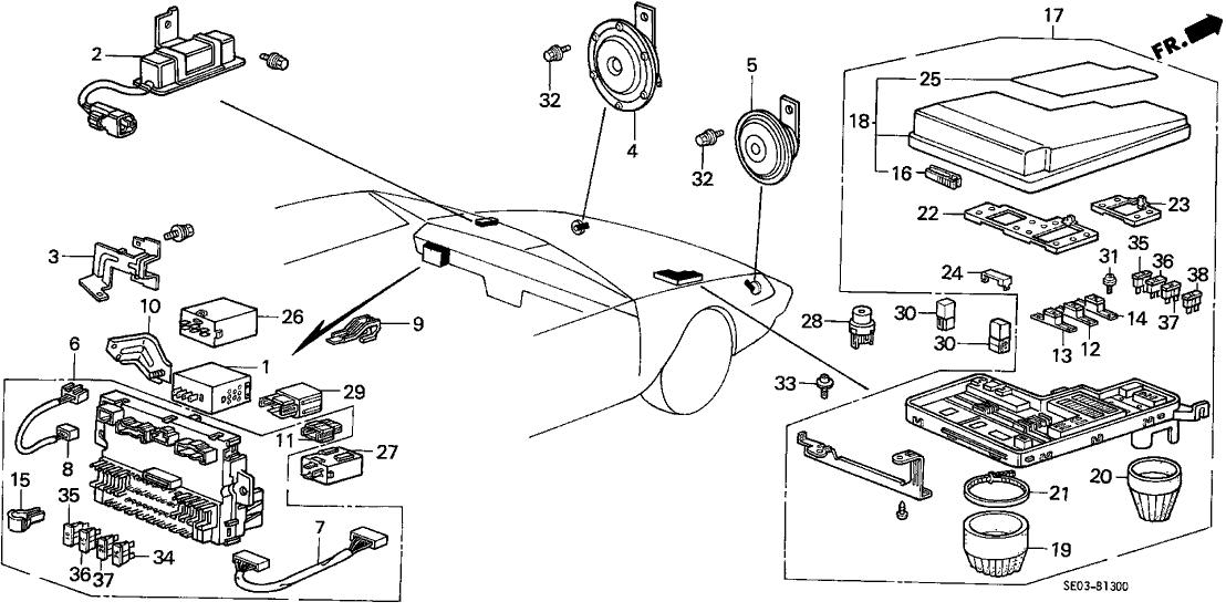 [DIAGRAM_5NL]  38250-SE0-A02 - Genuine Honda Box Assy., Relay | 1986 Honda Accord Fuse Box Diagram |  | Honda Parts Now