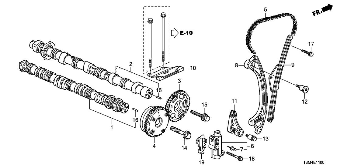 Wondrous 14210 5A2 A00 Genuine Honda Sprocket Cam Chain Driven Wiring Database Gramgelartorg