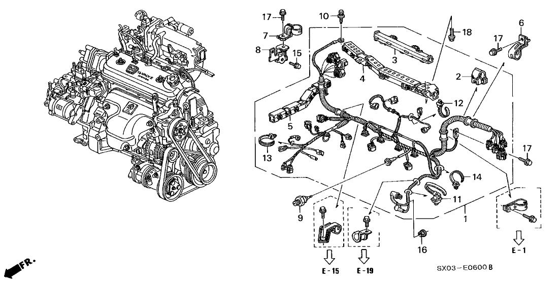 5 7 Engine Wire Harnes
