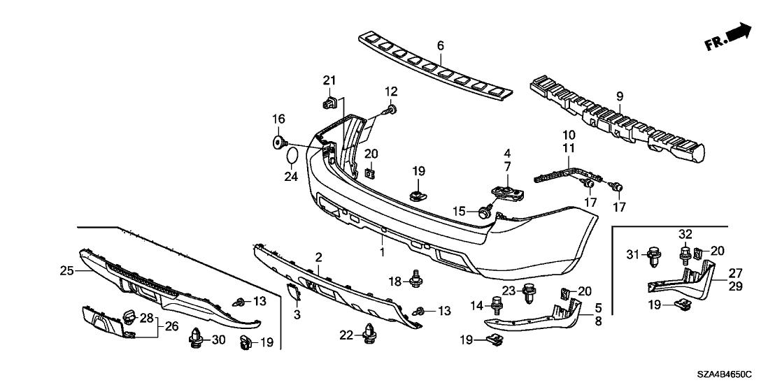2009 Honda Pilot Parts Diagram