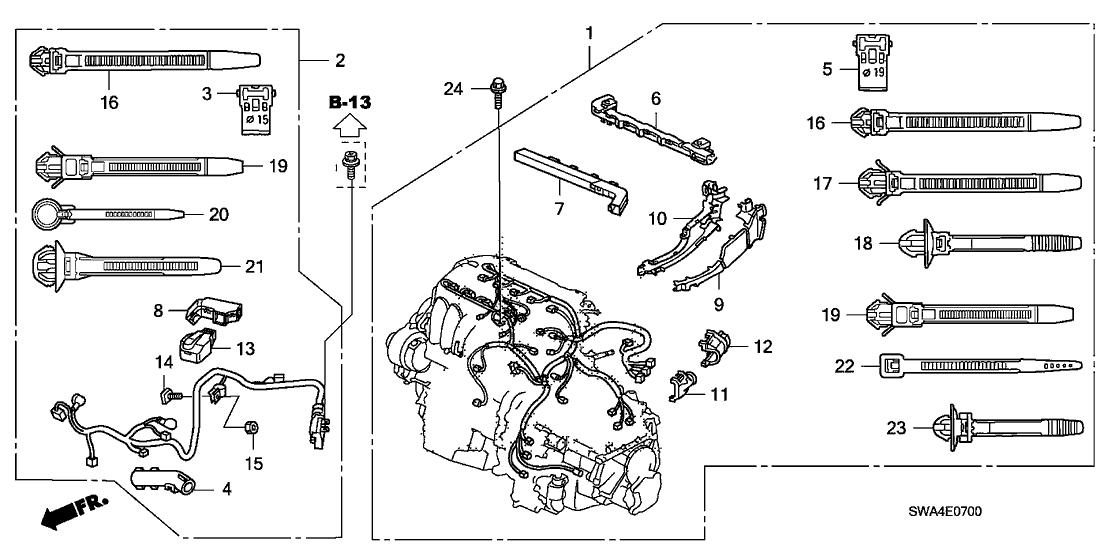32111 rza a00 genuine honda sub wire starter. Black Bedroom Furniture Sets. Home Design Ideas