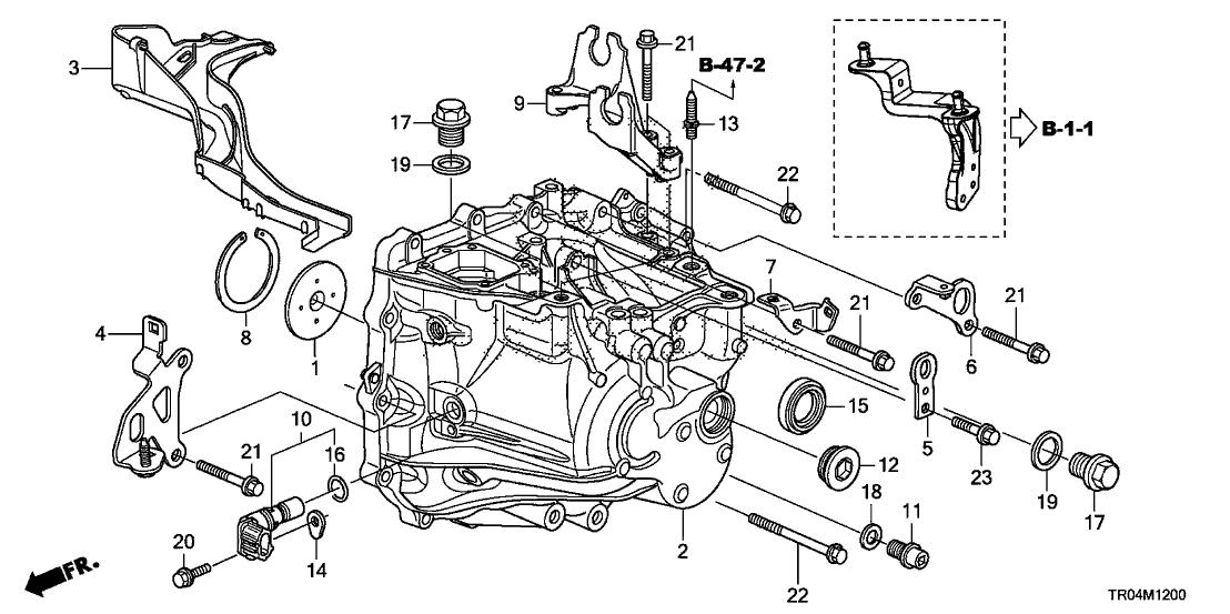 Sensational 2012 Honda Civic 4 Door Si Ka 6Mt Mt Transmission Case 2 4L Wiring Digital Resources Cettecompassionincorg