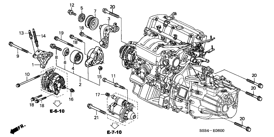 2003 honda civic 3 door si ka 5mt engine mounting bracket