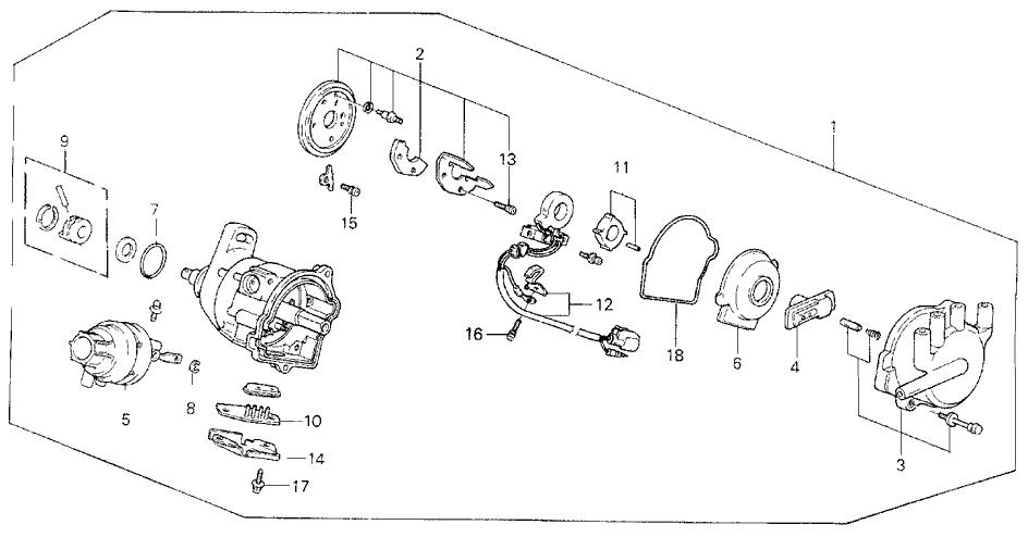 1990 honda prelude 2 door 2 0s kl 5mt distributor (tec)