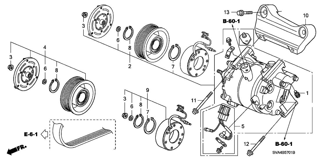 2006 Honda Civic Ac Compressor Diagram