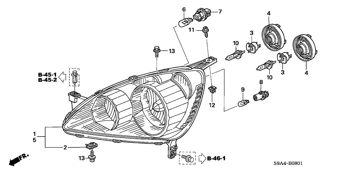 2005 Honda Cr V Headlight Wiring Diagram