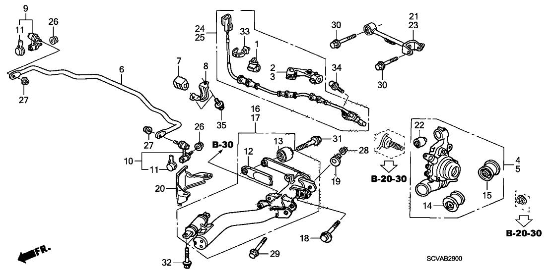 2003 Honda Accord Lower Control Arm Diagram