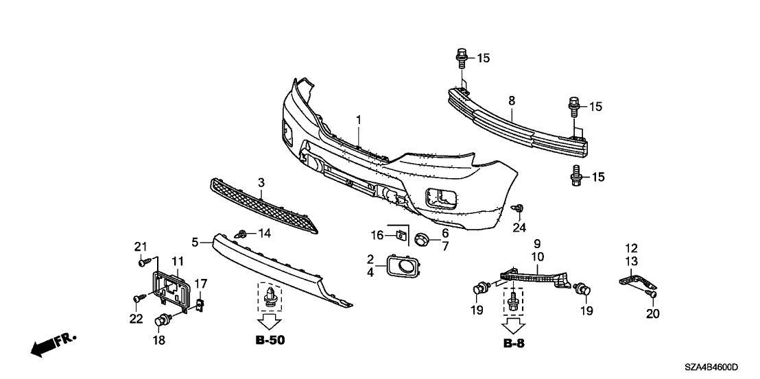 2011 Honda Pilot Parts Diagram