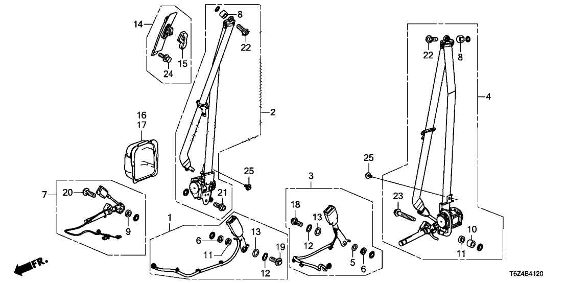 04814 t6z a00zc genuine honda parts. Black Bedroom Furniture Sets. Home Design Ideas