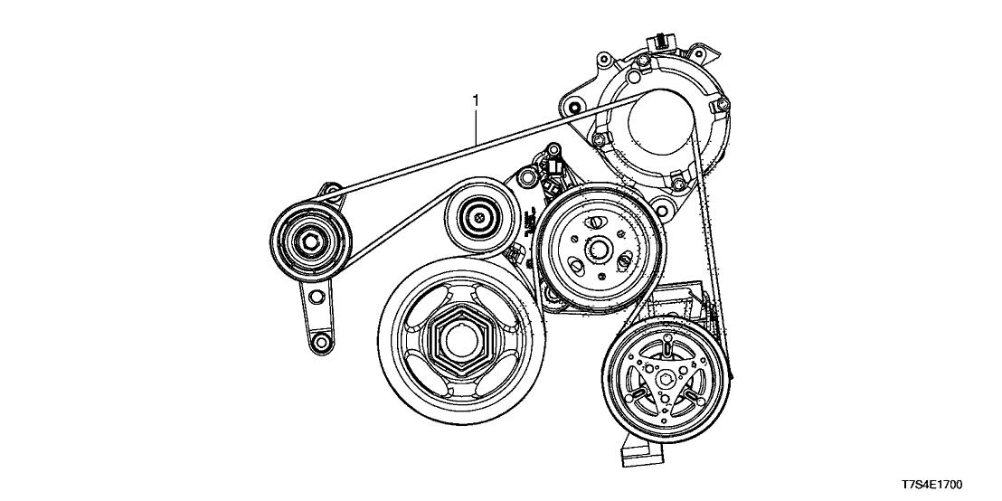 31110-R2A-M12 - Genuine Honda Belt, Alternator