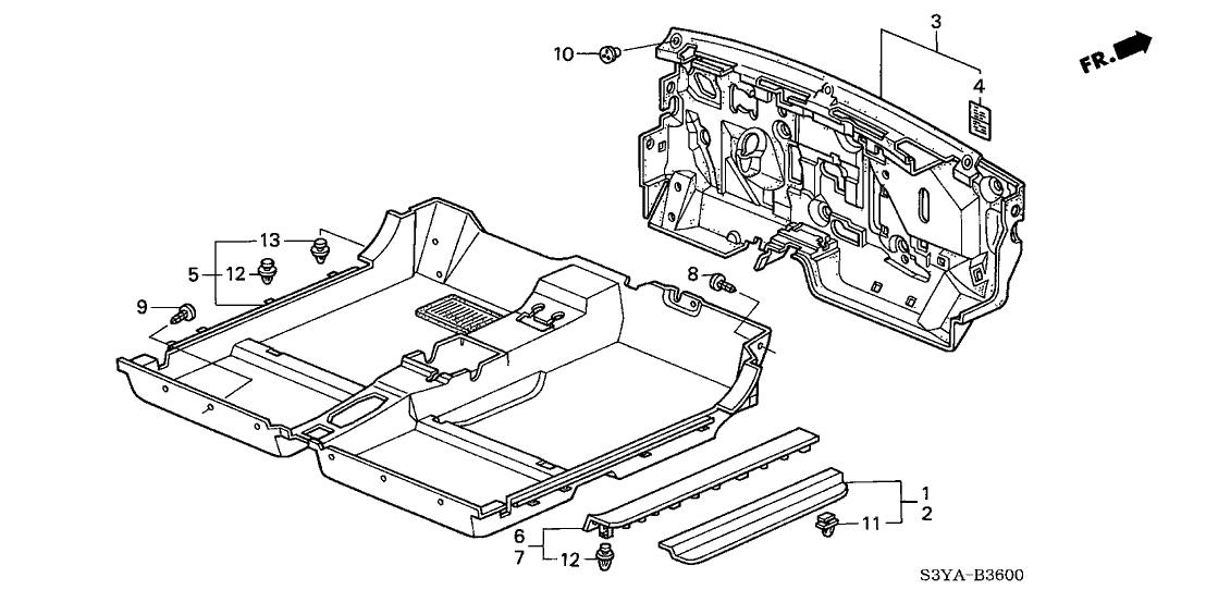 2005 Honda Insight 3 Door Dx  A  C  Ka 5mt Floor Mat
