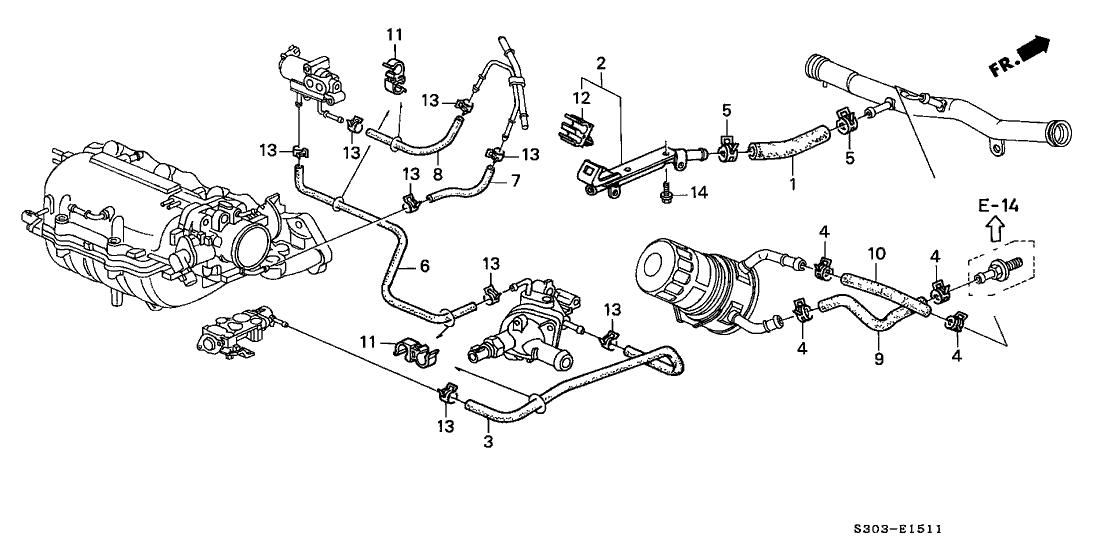 2001 Honda Prelude Engine Diagram