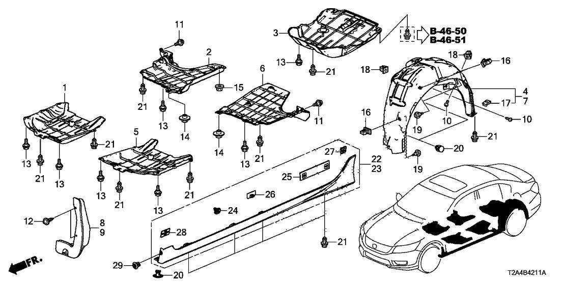 2013 Honda Accord 4 Door Lx Ka Cvt Under Cover