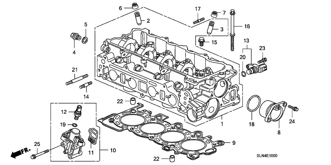 12200 pwc 040 genuine honda cylinder head 2008 Mitsubishi Lancer Engine Diagram 2008 honda fit 5 door sport ka 5at cylinder head
