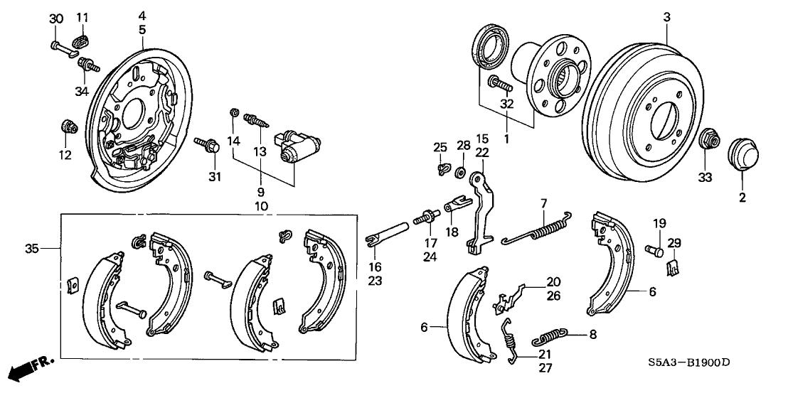 honda 43053 s5d a00 Dirt Bike Brake Diagram